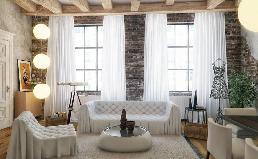 Модная гостиная в стиле Лофт